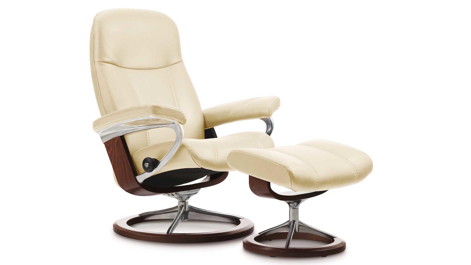 Stressless Consul L Signature Relax Sessel Und Hocker Leder Large