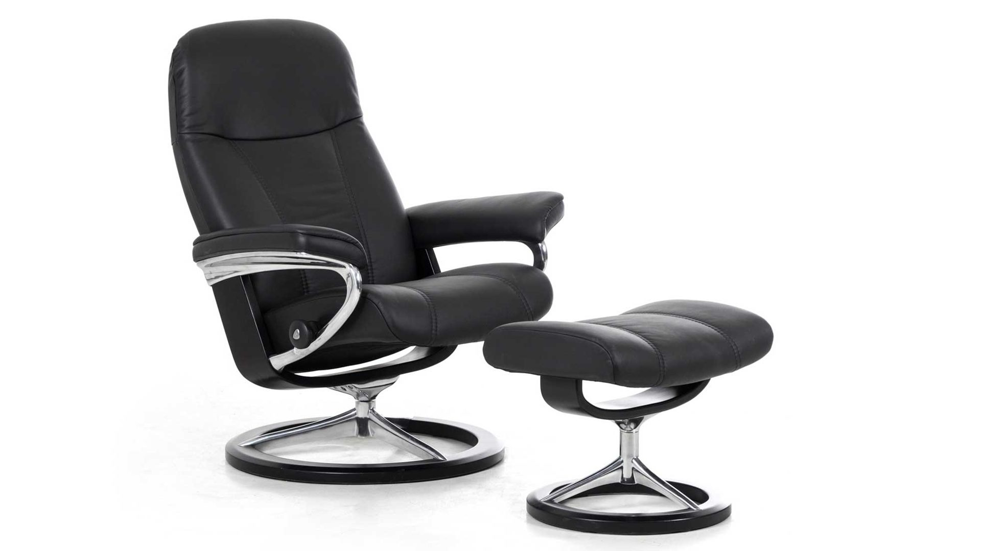 Stressless Consul M Signature Relax Sessel Und Hocker Leder Medium