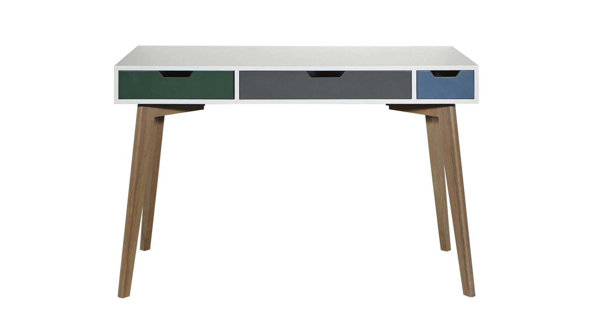 Schreibtisch Im Retro Look Bzw Arbeitstisch Weiß Farbig