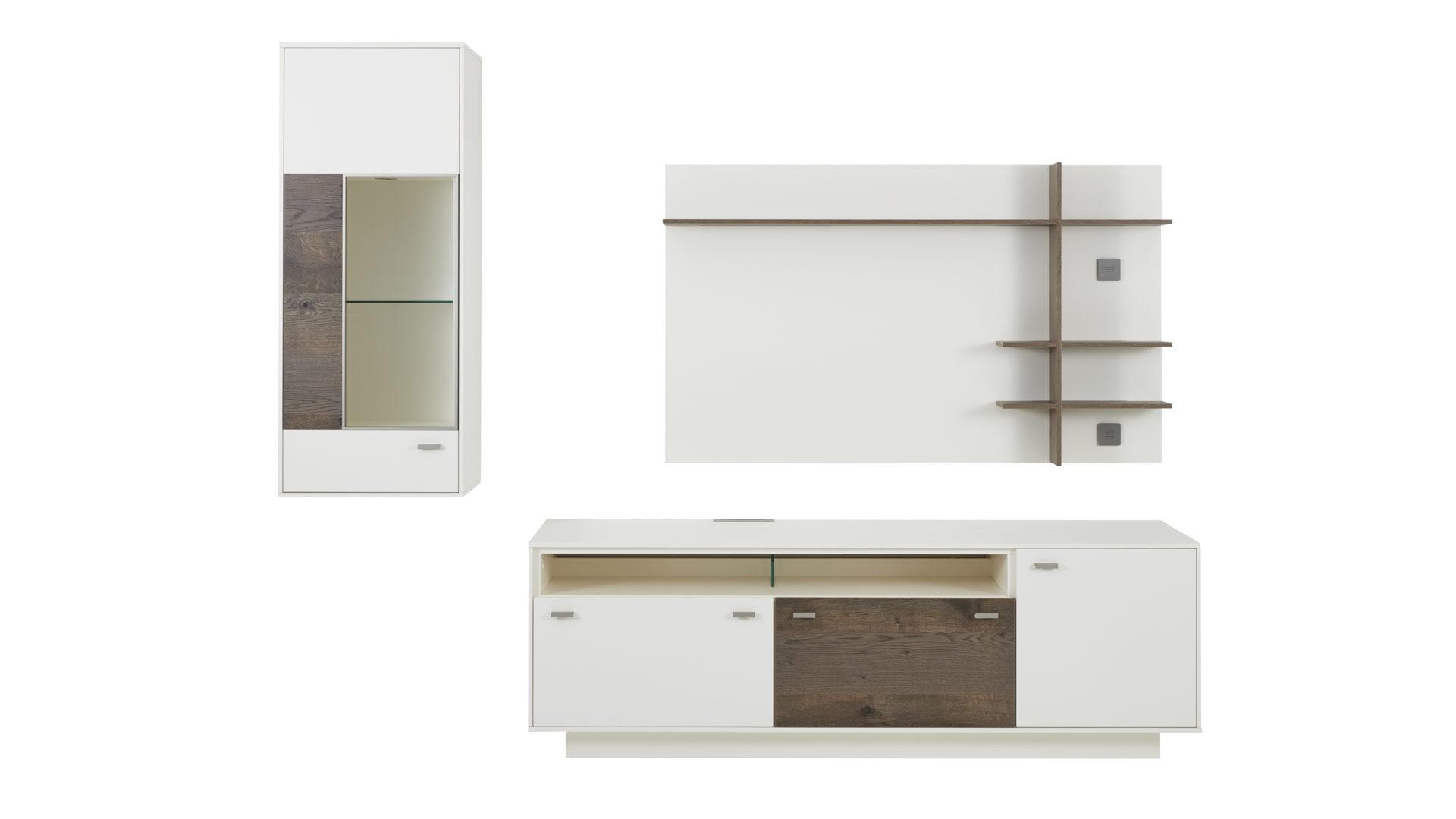 wohnwand nussbaum furniert, interliving wohnzimmer serie 2101 – wohnkombination, weiße, Design ideen