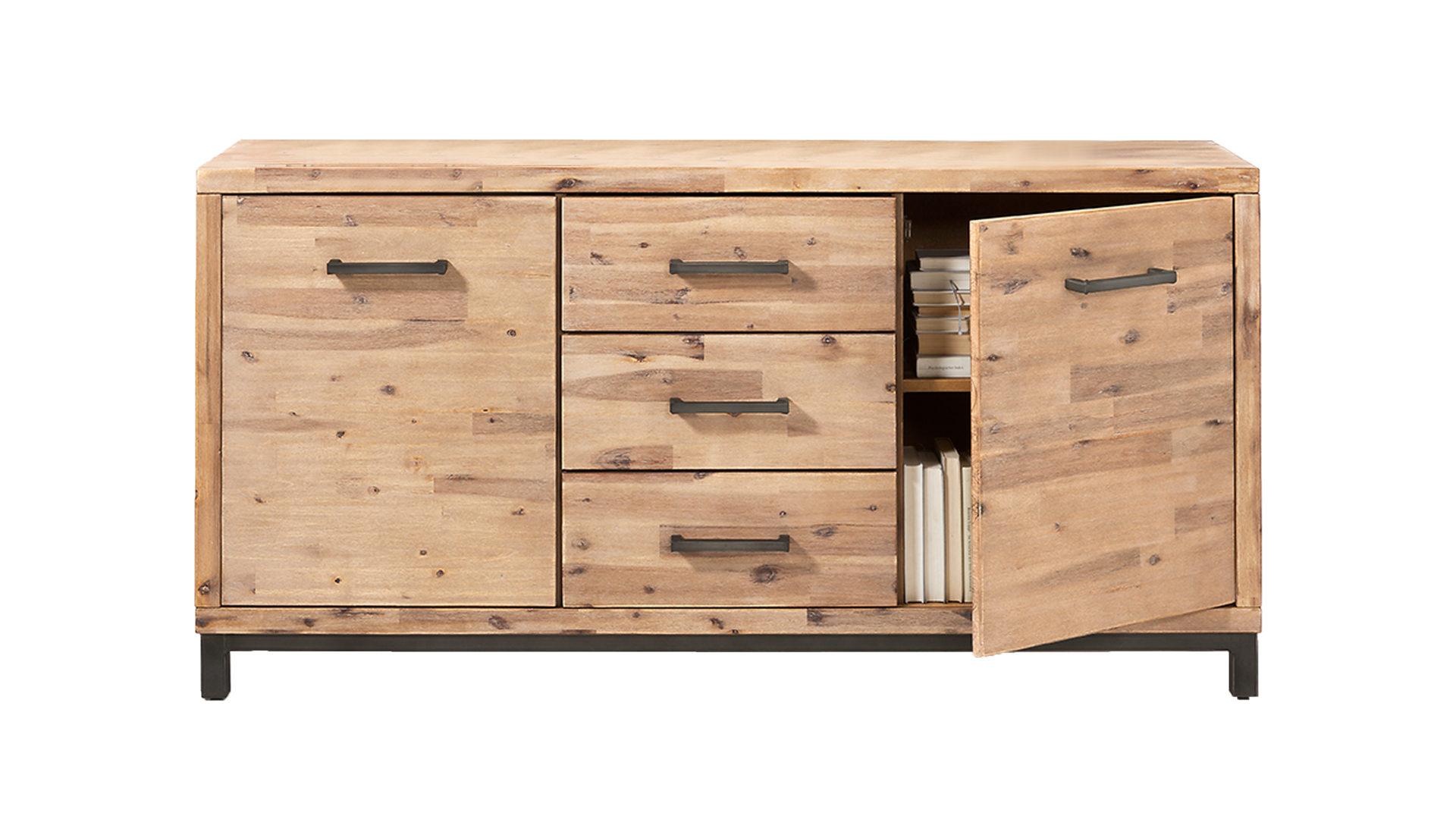 massivholzmöbel - sideboard, new smoke gebeiztes akazienholz