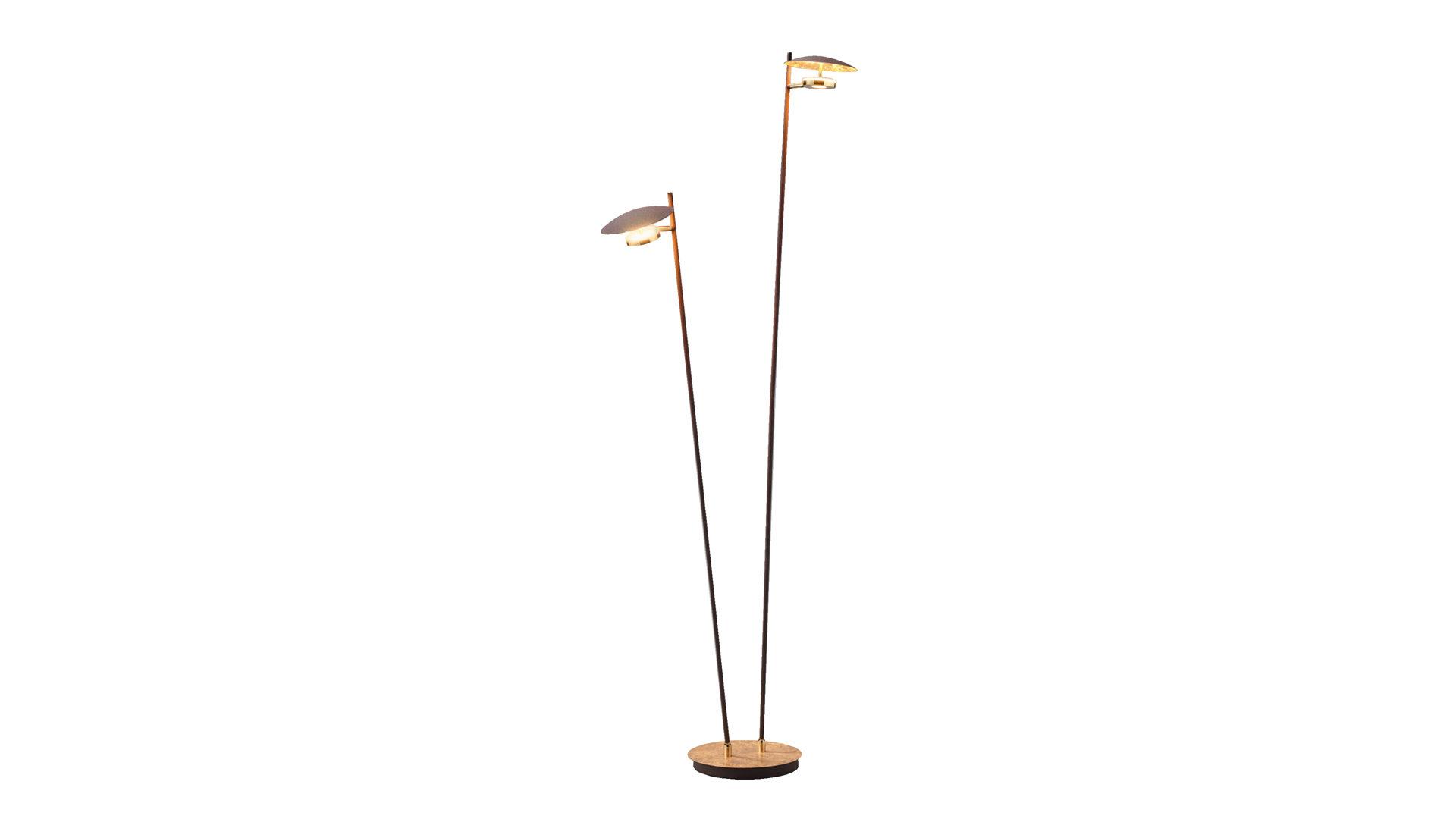 LED-Stehleuchte Nogan, goldfarbenes Metall – Höhe ca. 150 cm, Bad ...