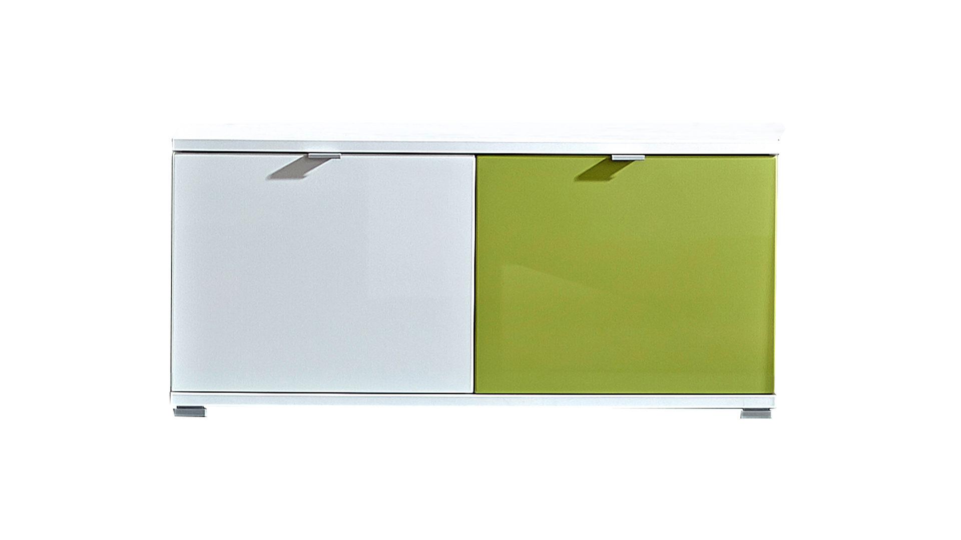 Garderoben-Schuhbank Colorado, weiße Kunststoffoberflächen & grüne ...