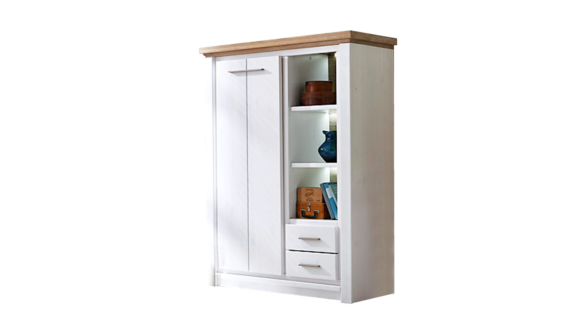 Cheap Affordable Vitrine Gomab O Aus Holz In Wei Woods Trends Wildeiche  With Vitrine Mit Schubladen With Woodstrends