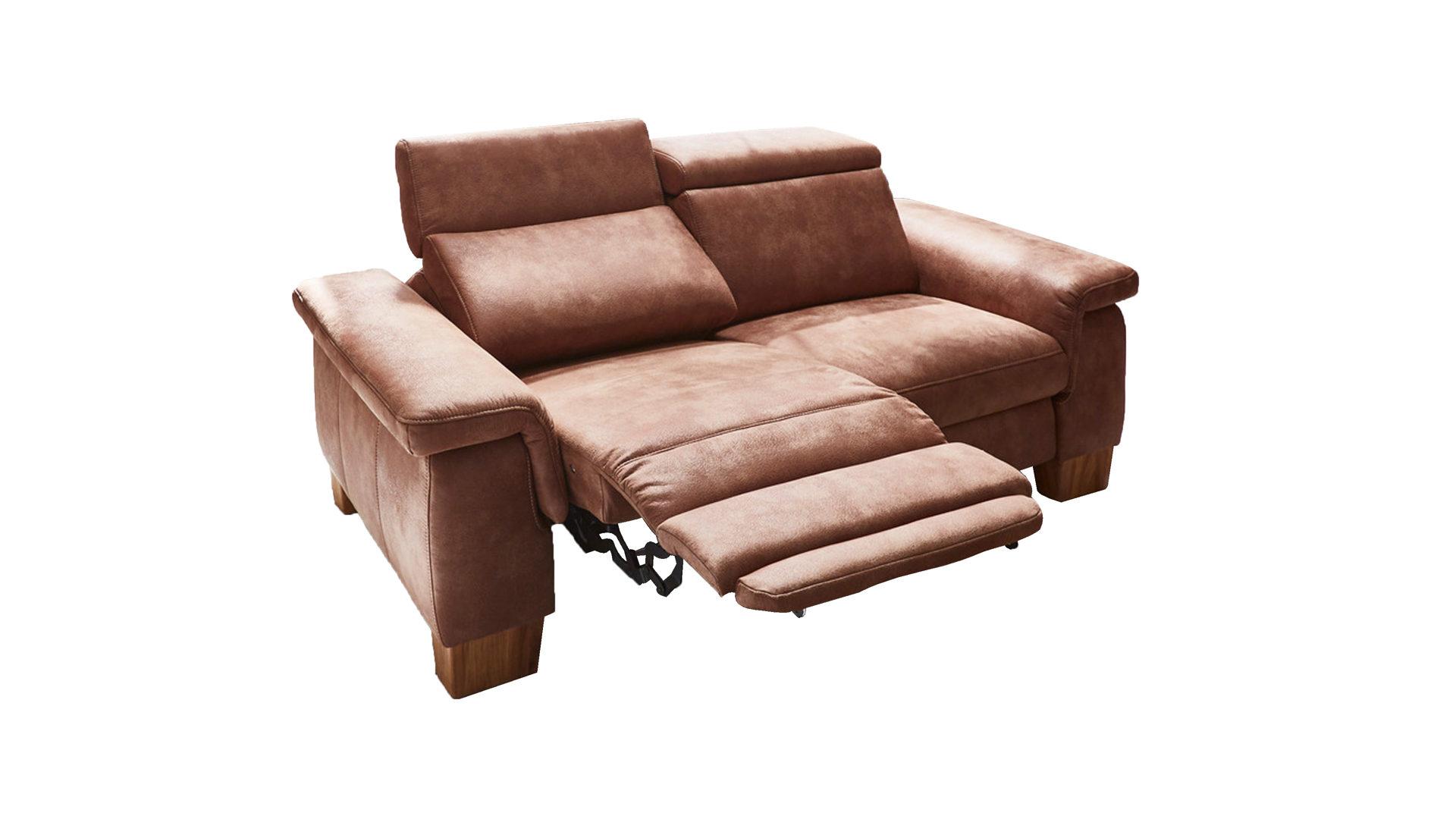 2,5-Sitzer als Sofa bzw. Couch, haselnussfarbene Mikrofaser Büffel ...
