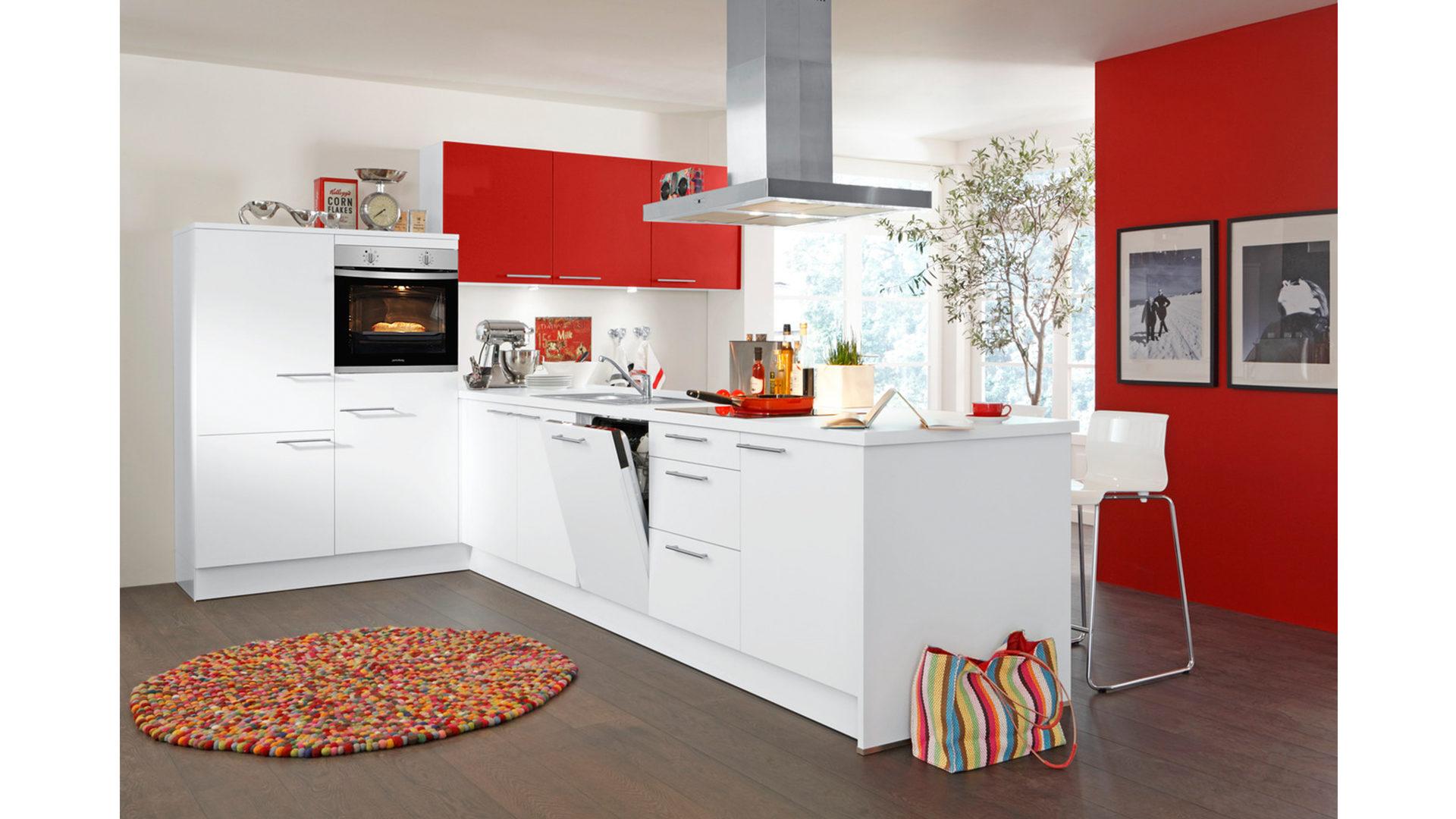 Einbauküche mit privileg Elektrogeräten wie Kühlschrank ...