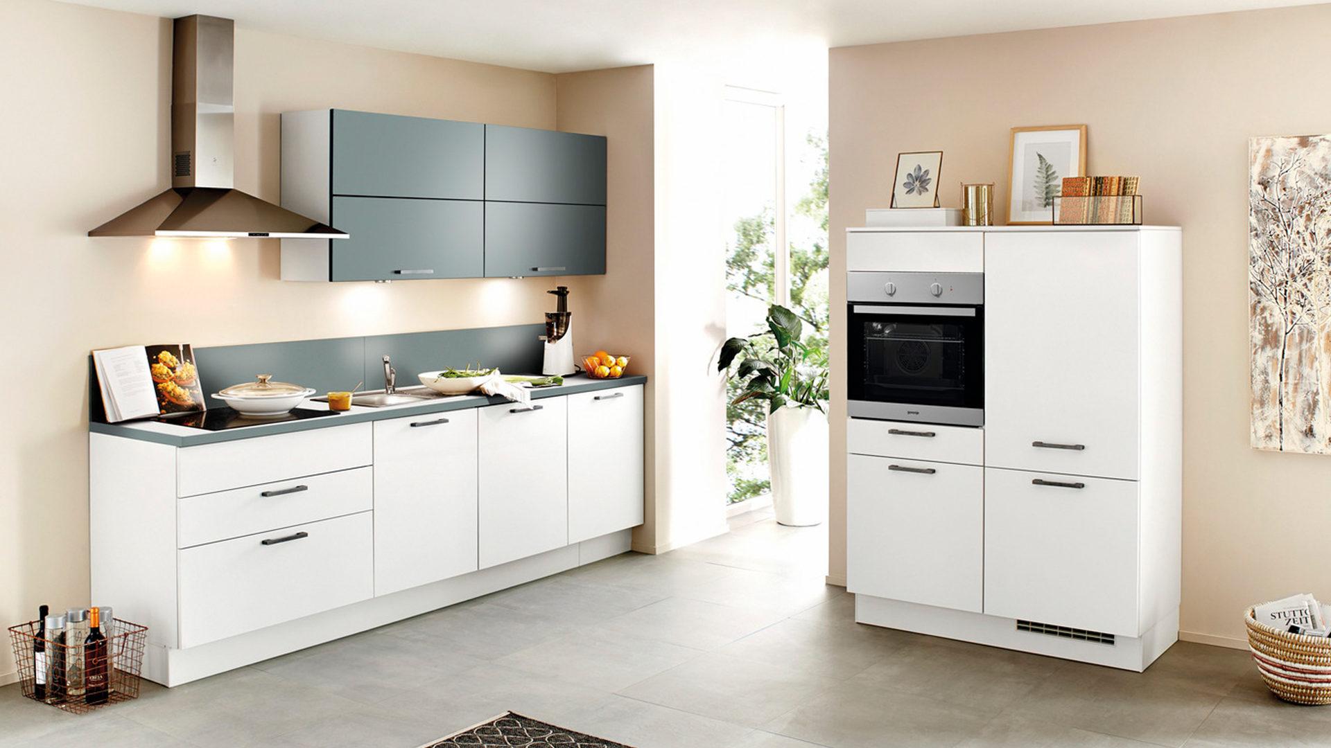 Einbauküche Frankfurt einbauküche mit gorenje elektrogeräten weiße aquafarbene bad