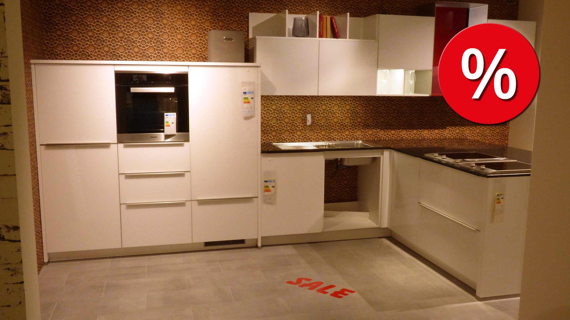 culineo Küche C888 mit Glasfront und Arbeitsplatte aus Quarzstein ...