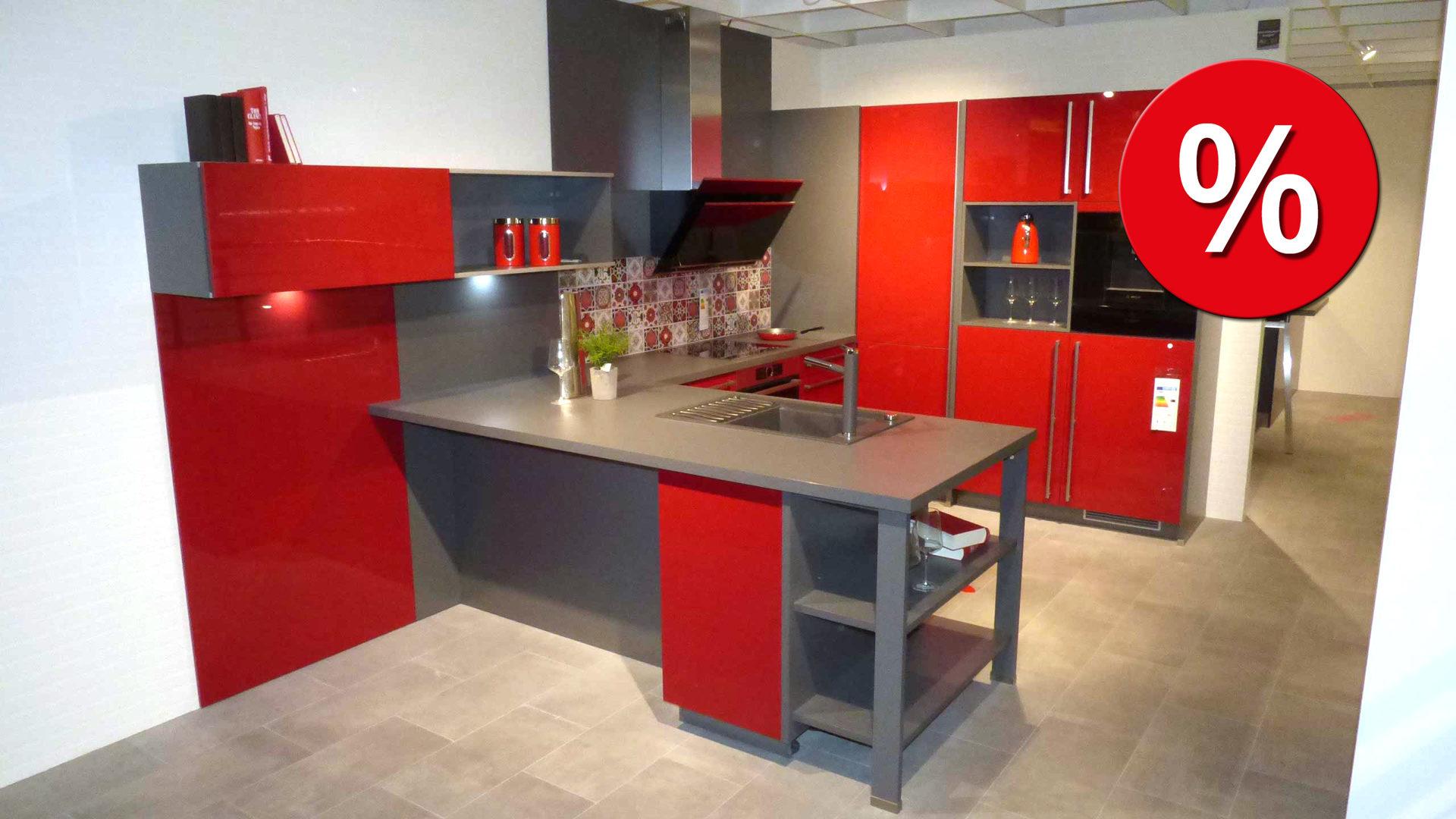 Einbauküchen Frankfurt culineo einbauküche c345 inkl bosch e geräte die front in rot