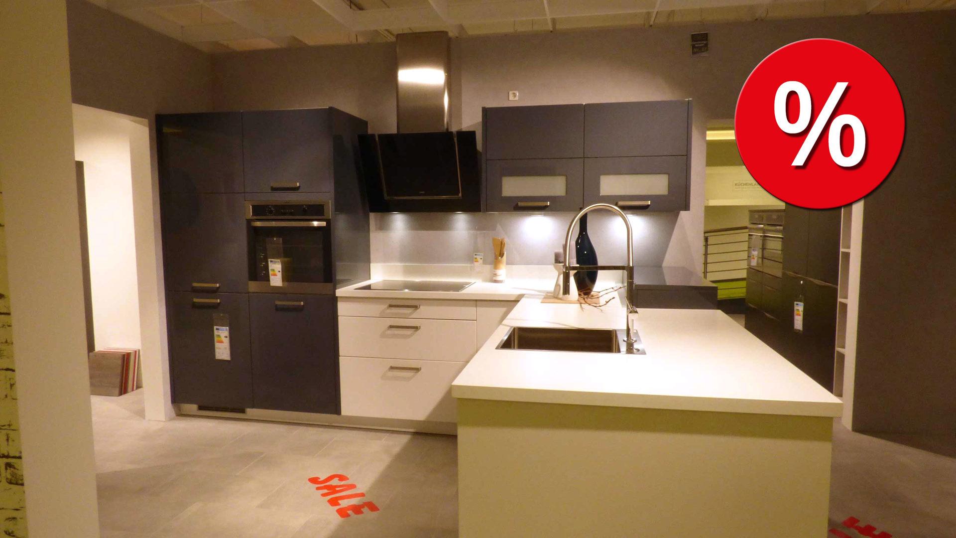 culineo Küche C515 Einbauküche inkl. AEG E-Geräte und Designer Box ...
