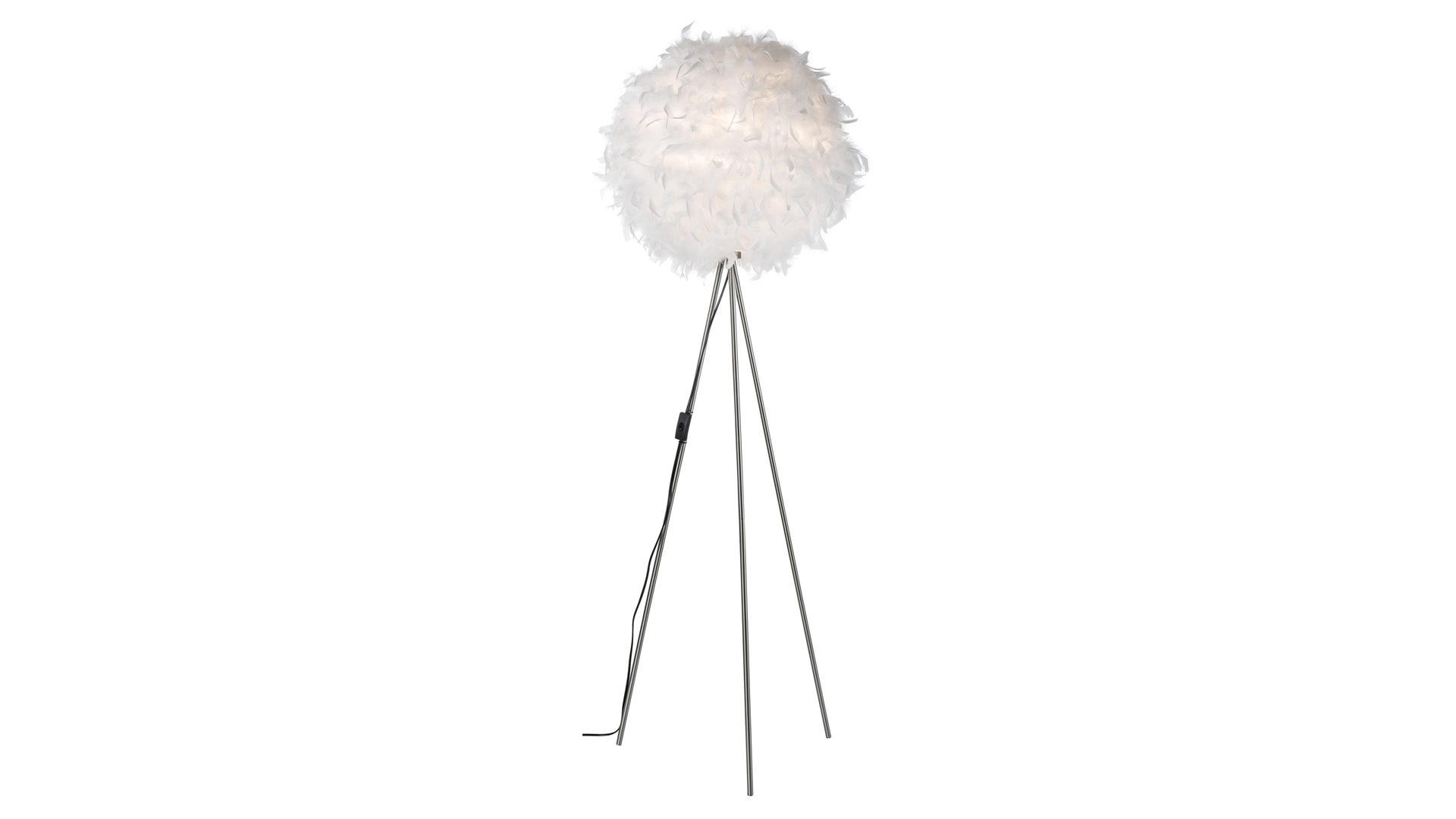 Stehleuchte Ducky, Papierkugeln mit weißen Federn – Höhe ca. 150 cm ...
