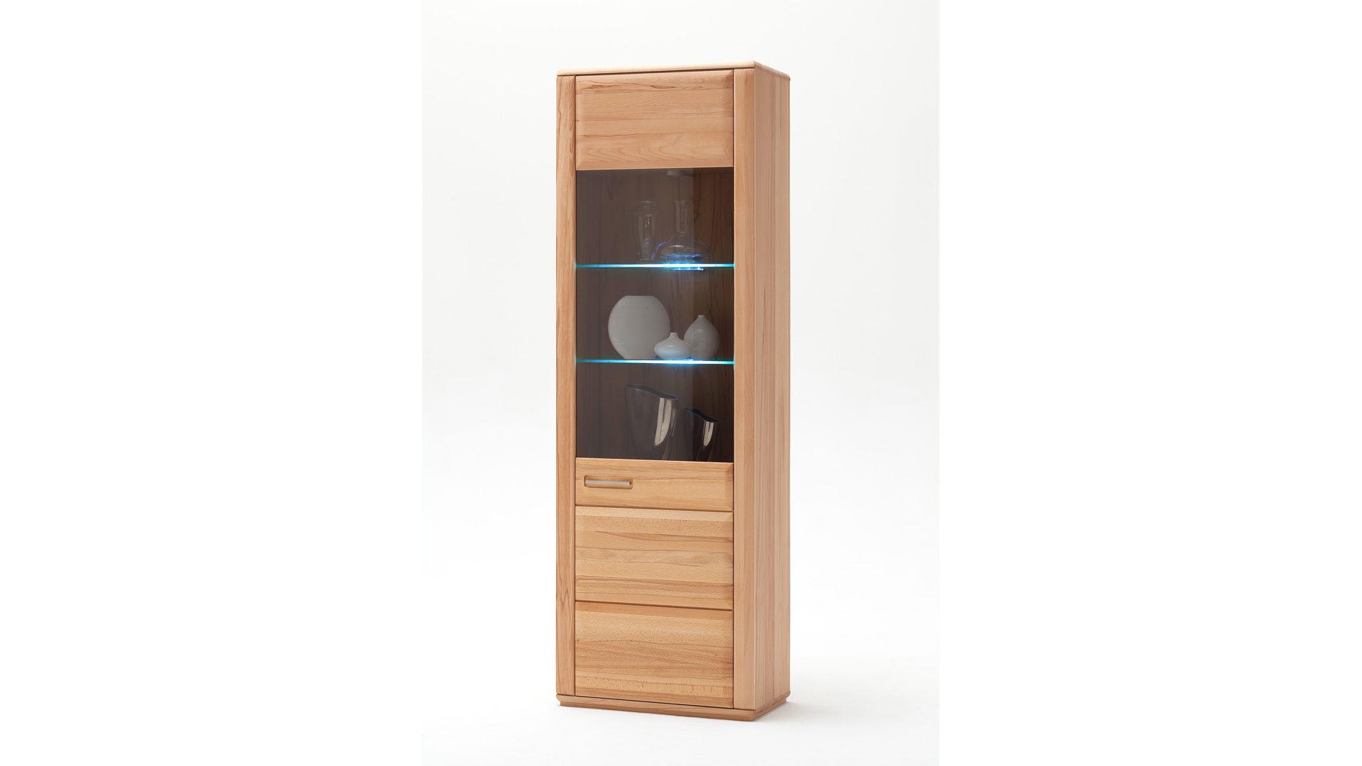 Vitrinenschrank Als Wohnzimmermöbel Geölte Kernbuche Eine Tür