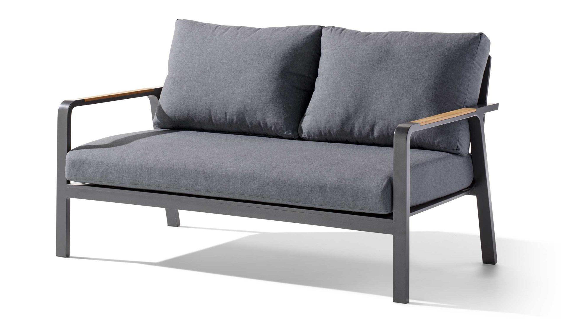 Sieger Exclusiv Sofa 2 Sitzer Nassau 432 G G Gestell Aluminium