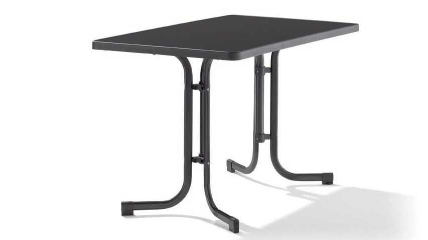 Klapptisch Gartentisch.Sieger Klapptisch Gartentisch 233 G Mecalit 115 X 70 Cm Gestell Stahlrohr Eisengrau Tischplatte Mecalit Anthrazit