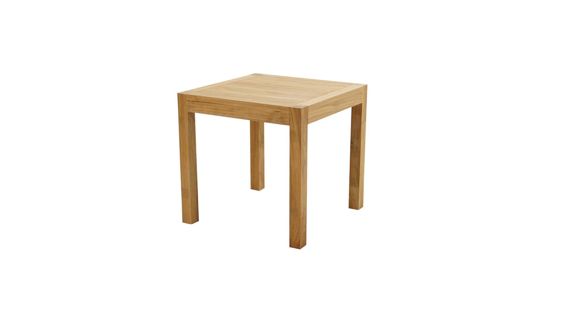 Ploss Loft Tisch New Haven Als Gartenmobel Teakholz Ca 80 X 80 Cm