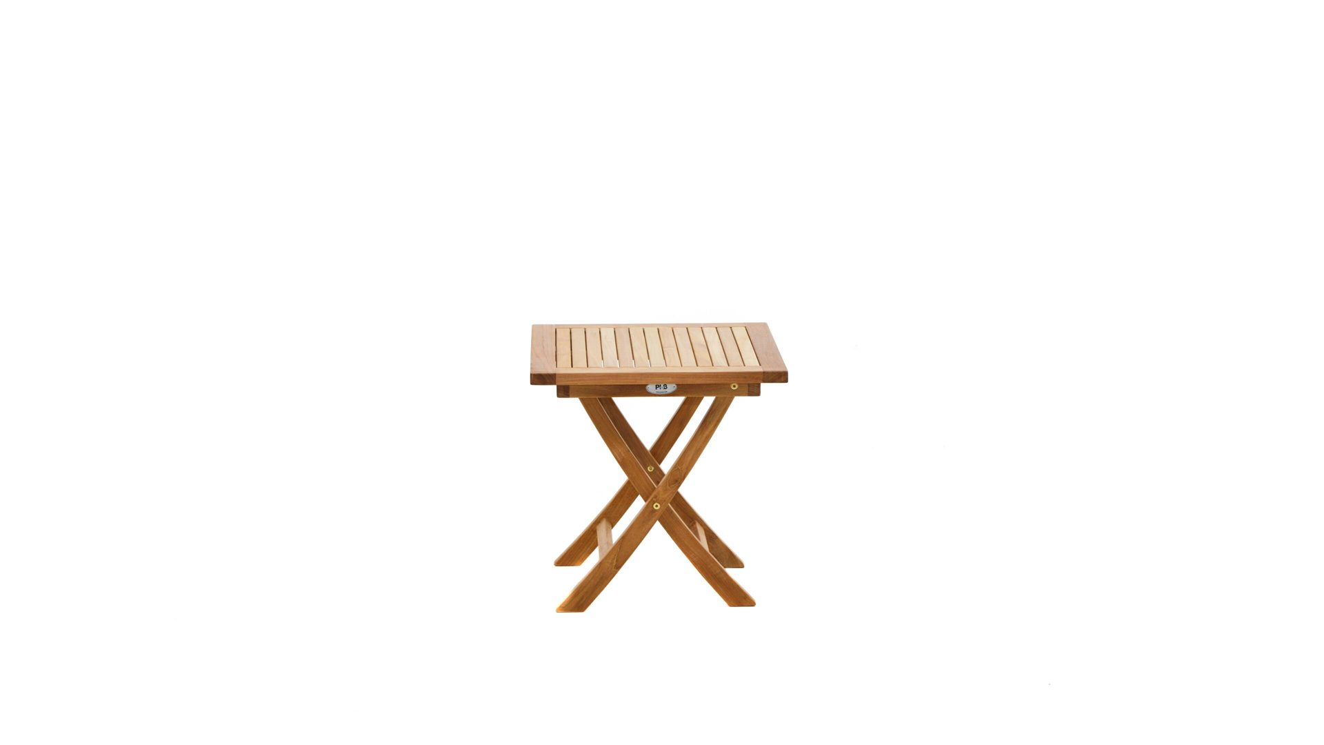 Ploß Klapp-Beistelltisch Tisch Tennessee, Teakholz – ca. 50 x 50 cm ...