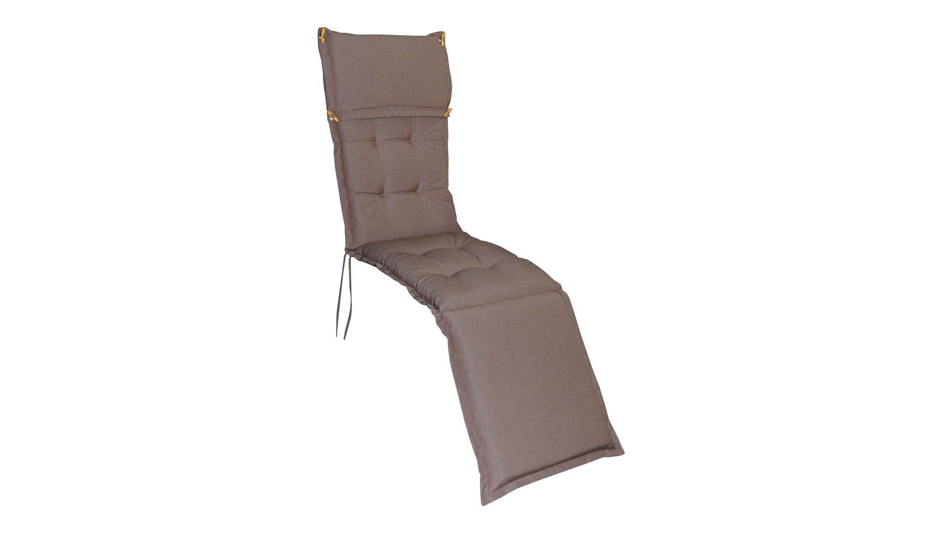 Ploß Premium Deckchair-Polsterauflage Kenia, cappuccinofarbener ...