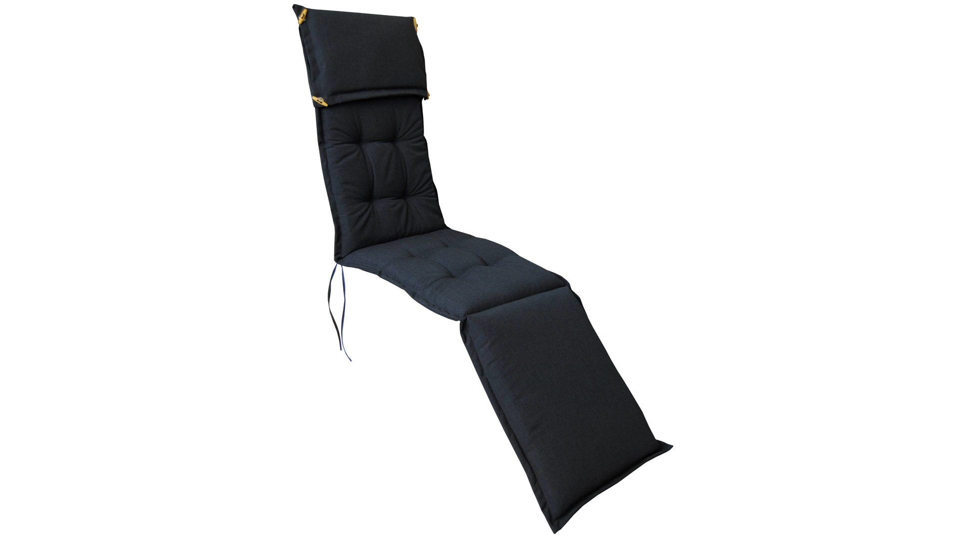 Ploß Premium Deckchair-Polsterauflage Manhattan, anthrazitfarbener ...