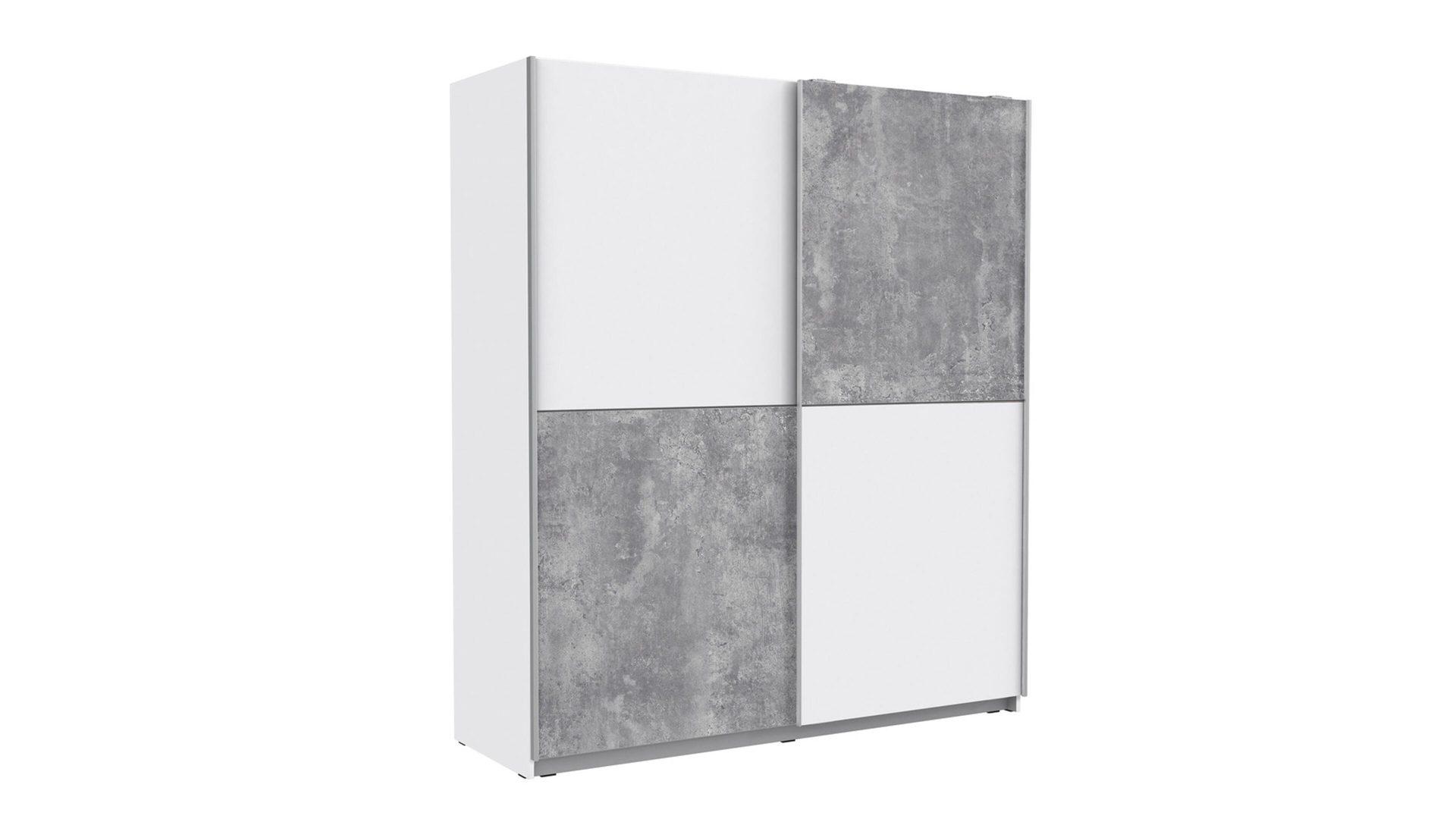 Schwebetürenschrank bzw. Kleiderschrank, weiße & betonfarbene, Bad ...