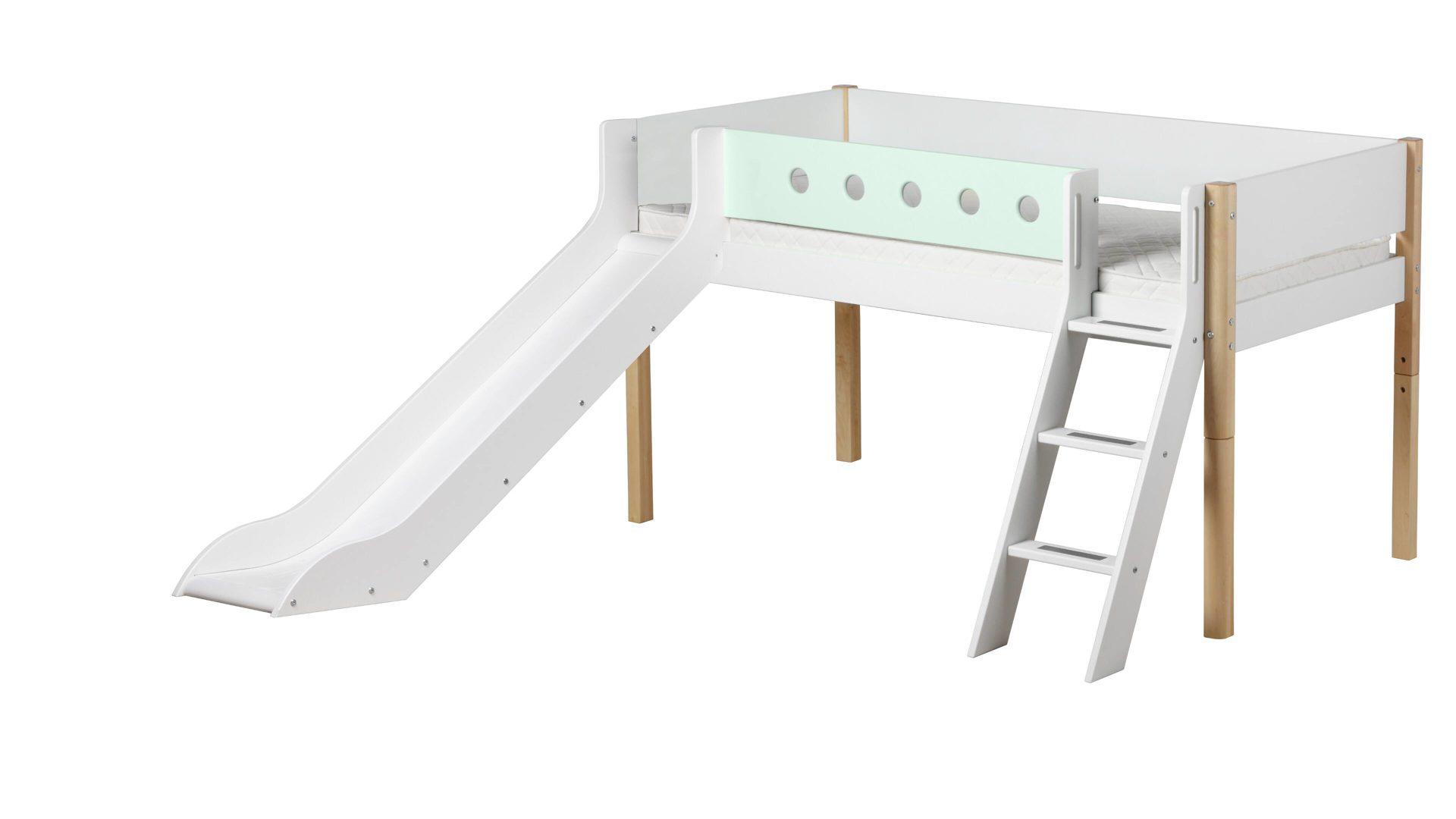 Flexa Spielbettgestell Weiße Mintfarbene Lackoberflächen
