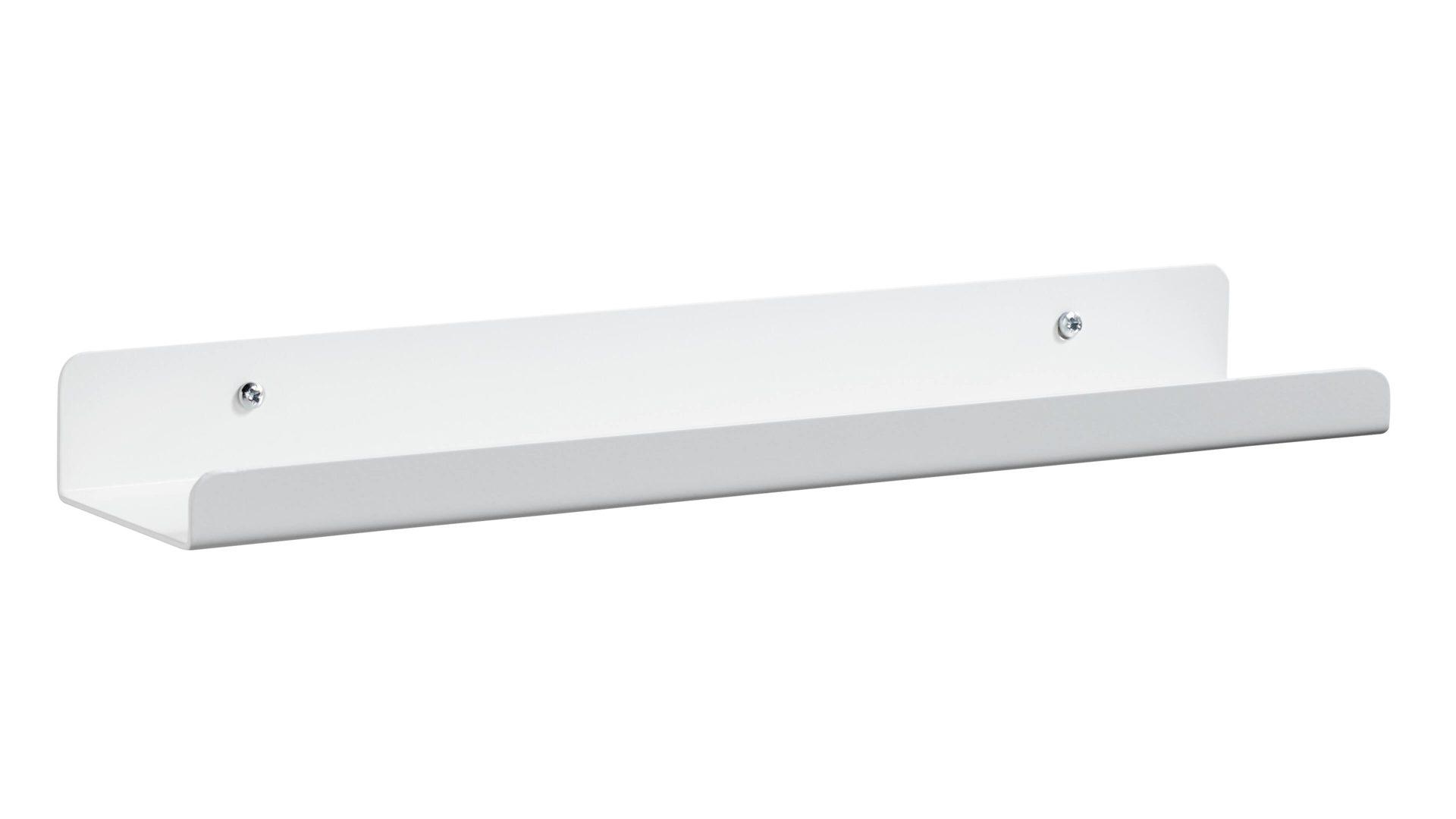 FLEXA Metall-Wandregal, weißes Metall – Länge ca. 40 cm, Bad Homburg ...