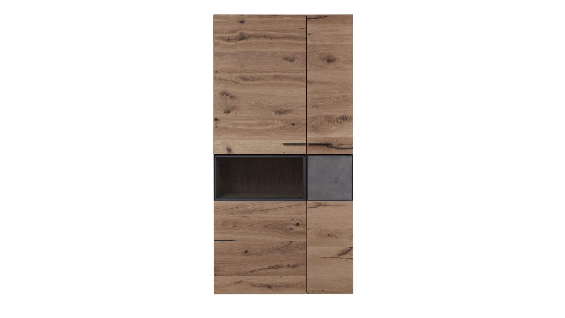 vitrine voglauer il aus holz in holzfarben interliving wohnzimmer serie 2004 vitrine wildeiche
