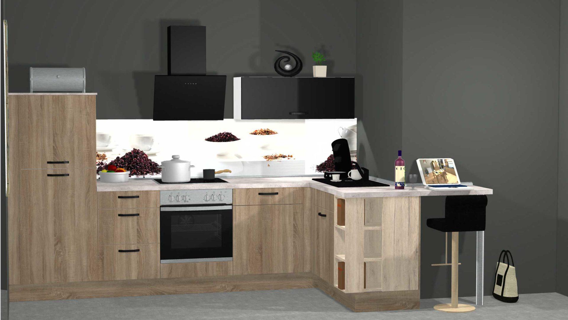 Hochwertige Moderne Nobilia Kuche Mit Schraghaube Und