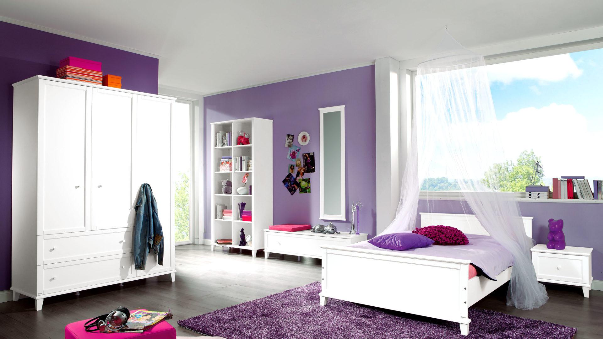 Paidi Jugendzimmer Sophia Mit Bett Und Kleiderschrank Eisweißer