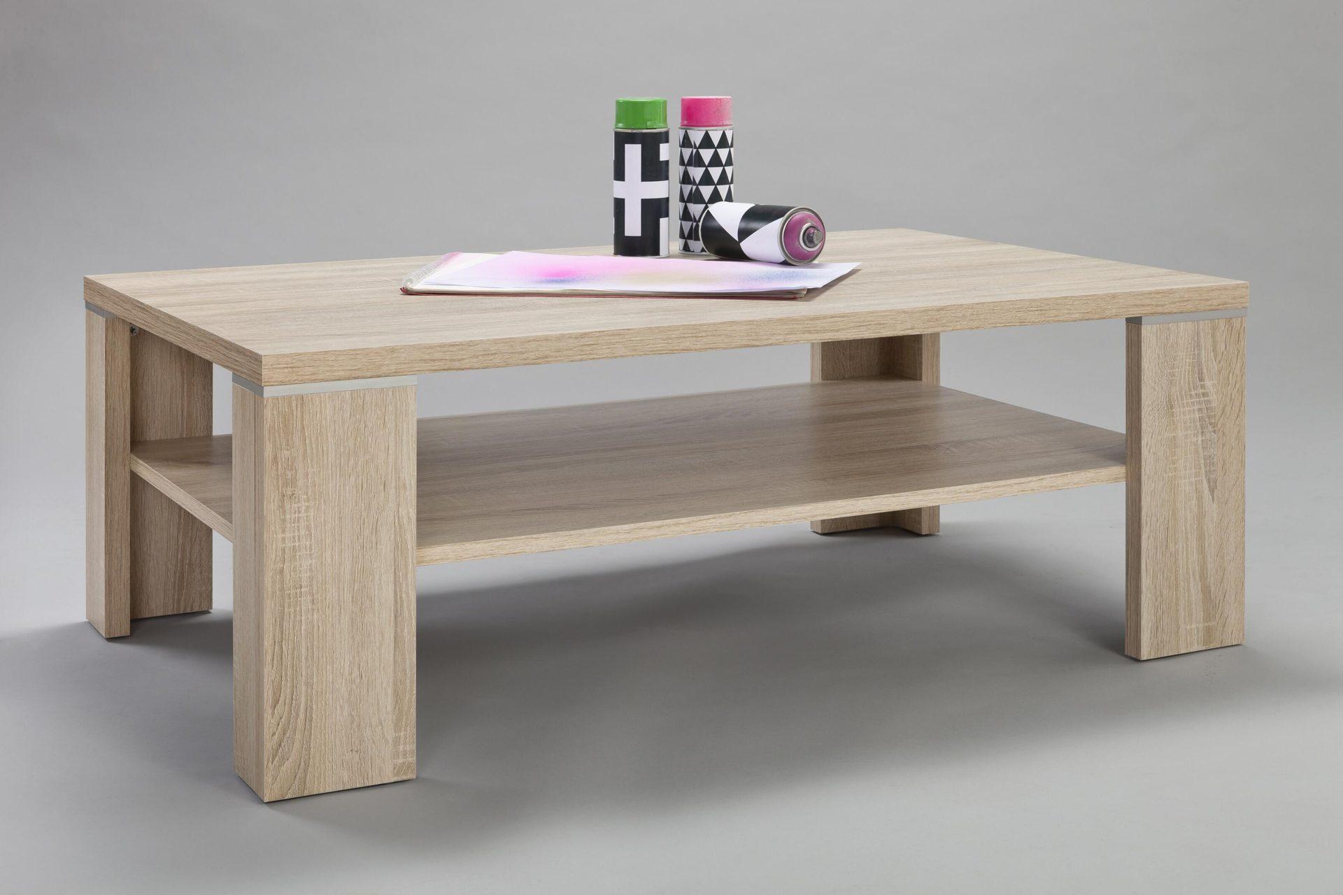 Wohnzimmertisch Perfekt Fur Moderne Sitzmobel Sanremo Eichefarbene Kunststoffoberflache Ca 110 X 70 Cm