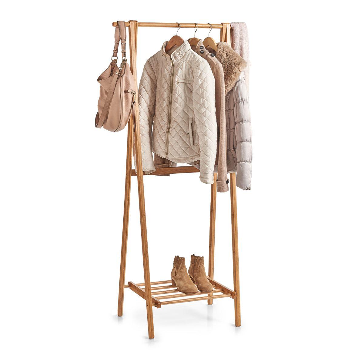 Garderobenständer, Bambusholz   Höhe ca. 20 cm