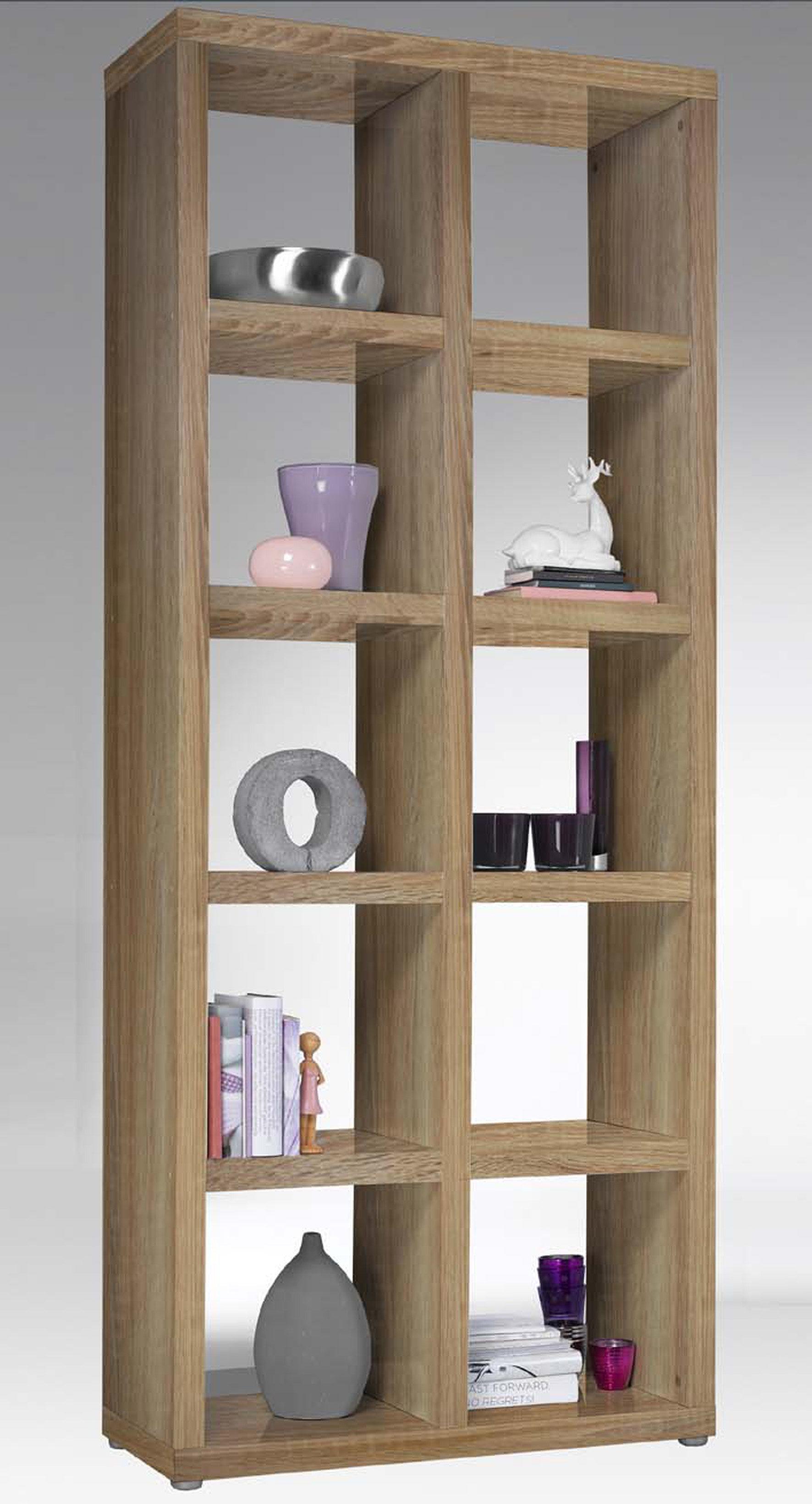Raumteiler-Regal Space als Bücherregal einsetzbar, eichefarben ...