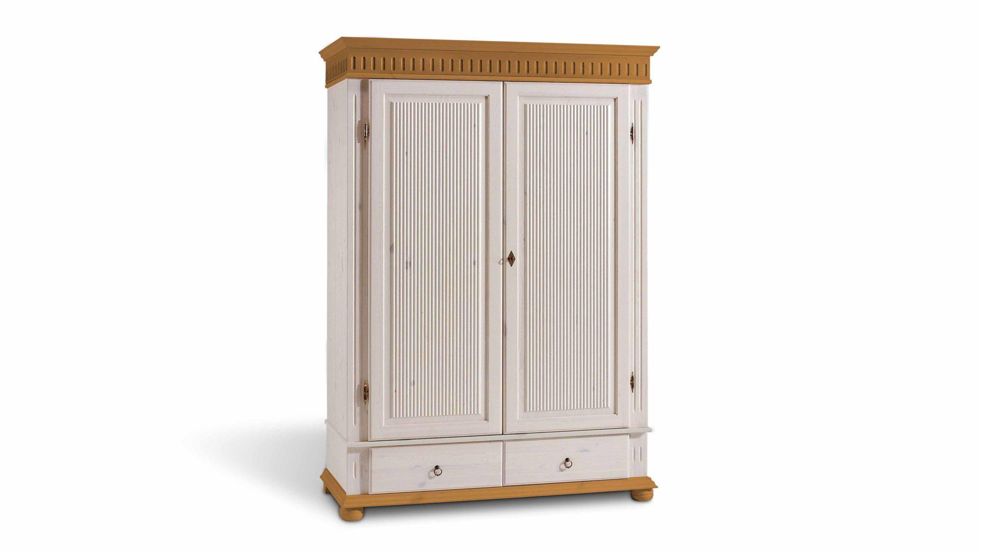 Kleiderschrank Euro Diffusion Aus Holz In Weiß Kleiderschrank Für Modern  Eingerichtete Schlafzimmer Weiß Lackiertes U0026 Antikfarbenes