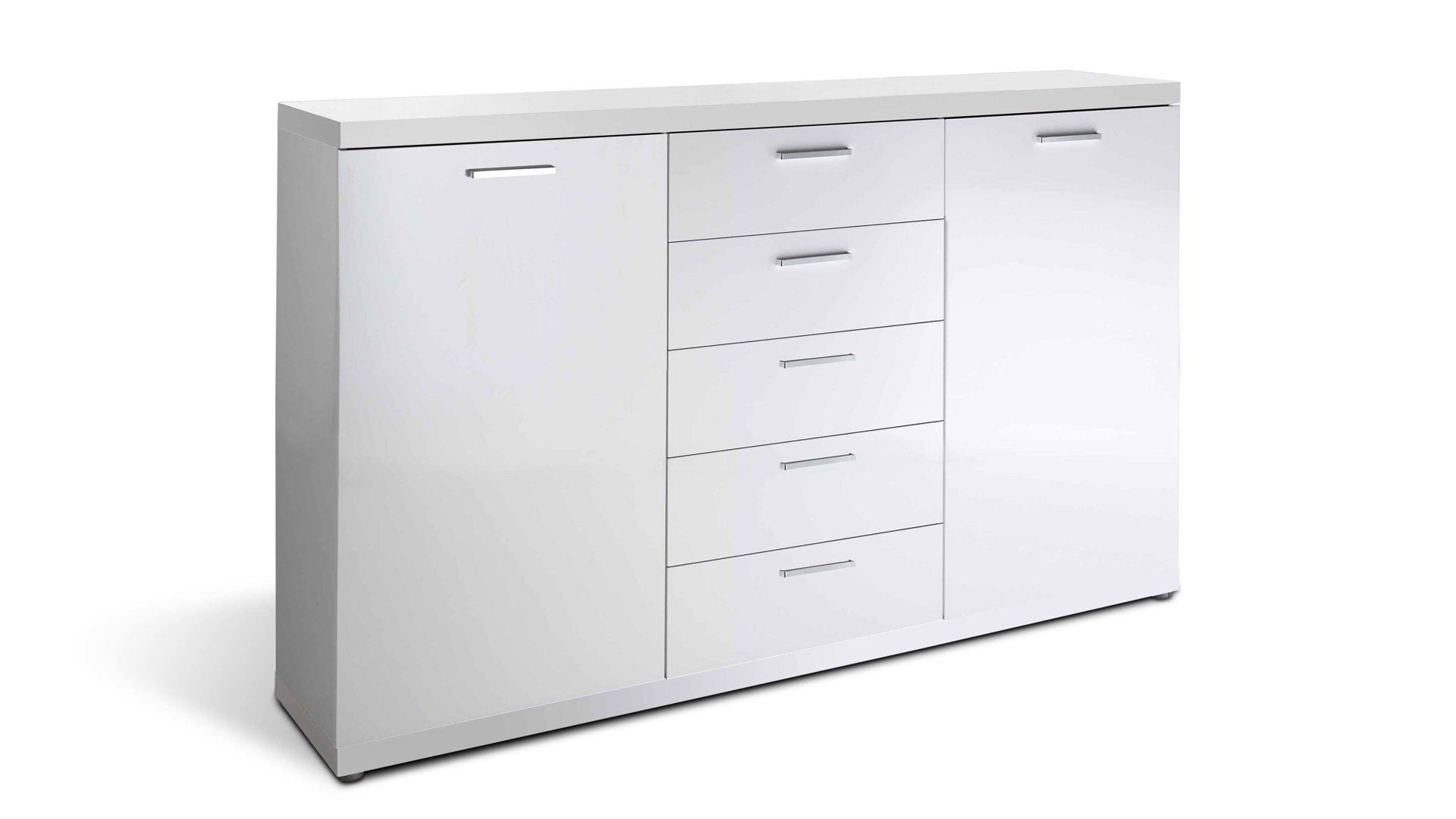 Sideboard Hmw MÖbel Aus Holz Kunststoff In Weiß Sideboard Space Als Kommode  Mit Praktischem Stauraum Weiße