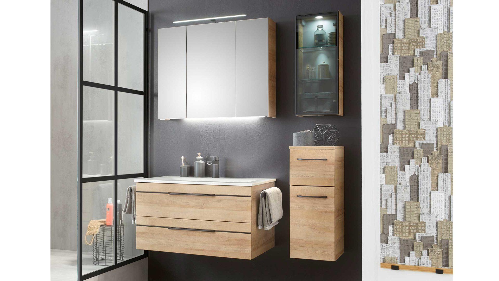 Bad Kombination BALTO Spiegelschrank, Waschbecken , Unterschrank ...