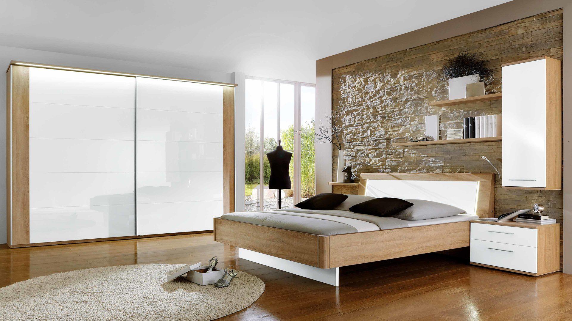 GroBartig Komplettzimmer Loddenkemper | 474051 Aus Holz In Holzfarben Hell Weiß  Modernes PARTNERRING COLLECTION Schlafzimmer Weiße Lack