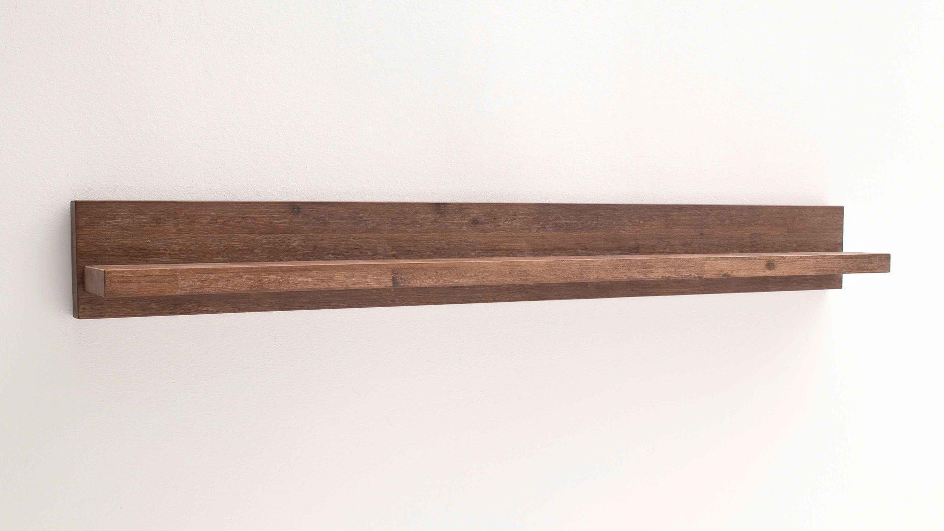 Wandboard Victoria bzw. Wandregal, geölte & gekälktes Akazienholz - Länge  ca. 160 cm