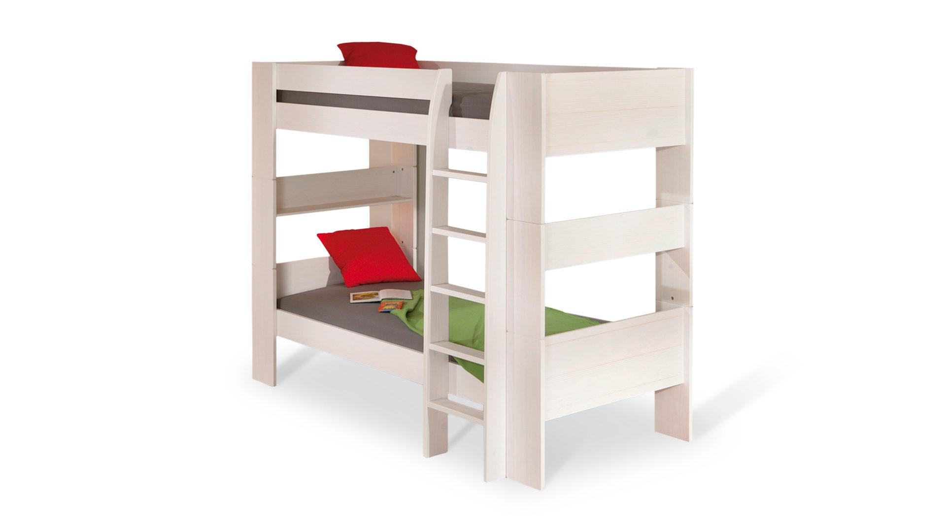 Etagenbett Sofa Duo : Etagenbett hochbett jakob weiß cm unschädlich lackiert