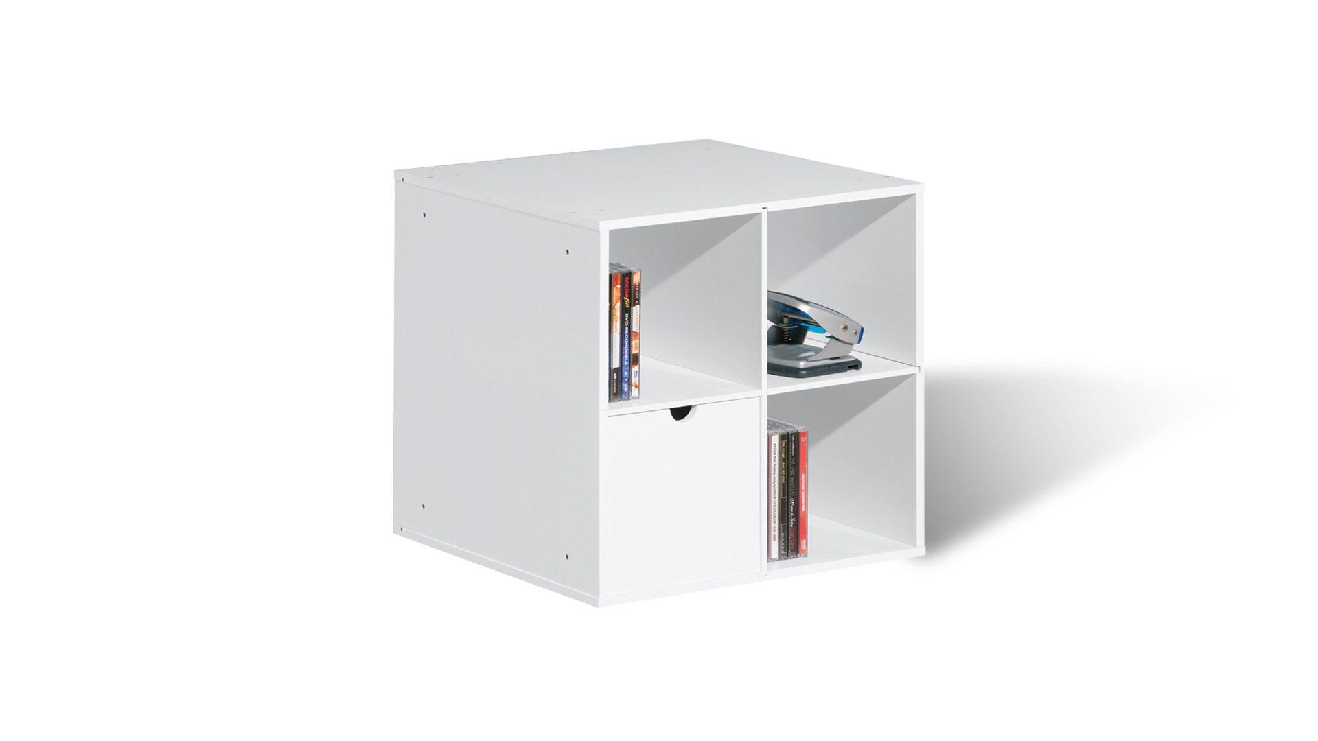Aufbewahrungsbox Cm117 Als Kleinmobel Weisse Kunststoffoberflache