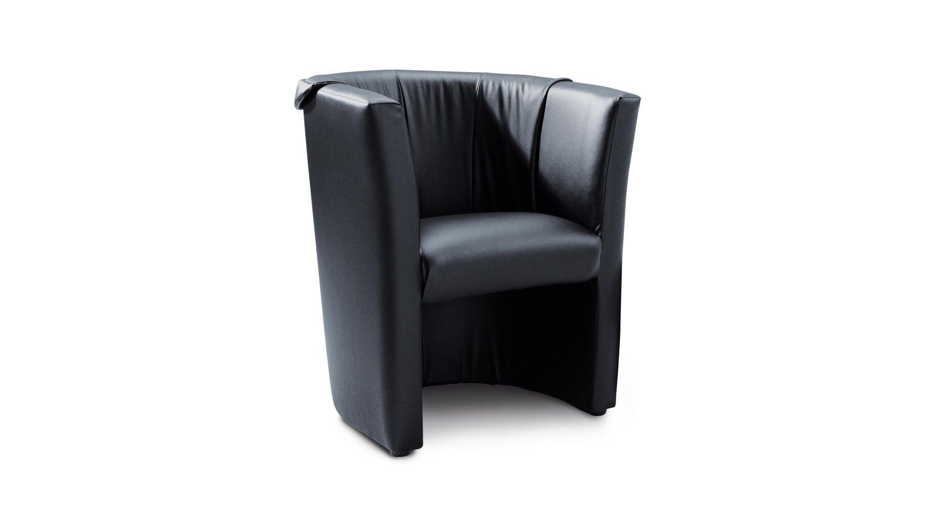 Cocktailsessel, ein Polstermöbel mit Stil , schwarzes Kunstleder ...