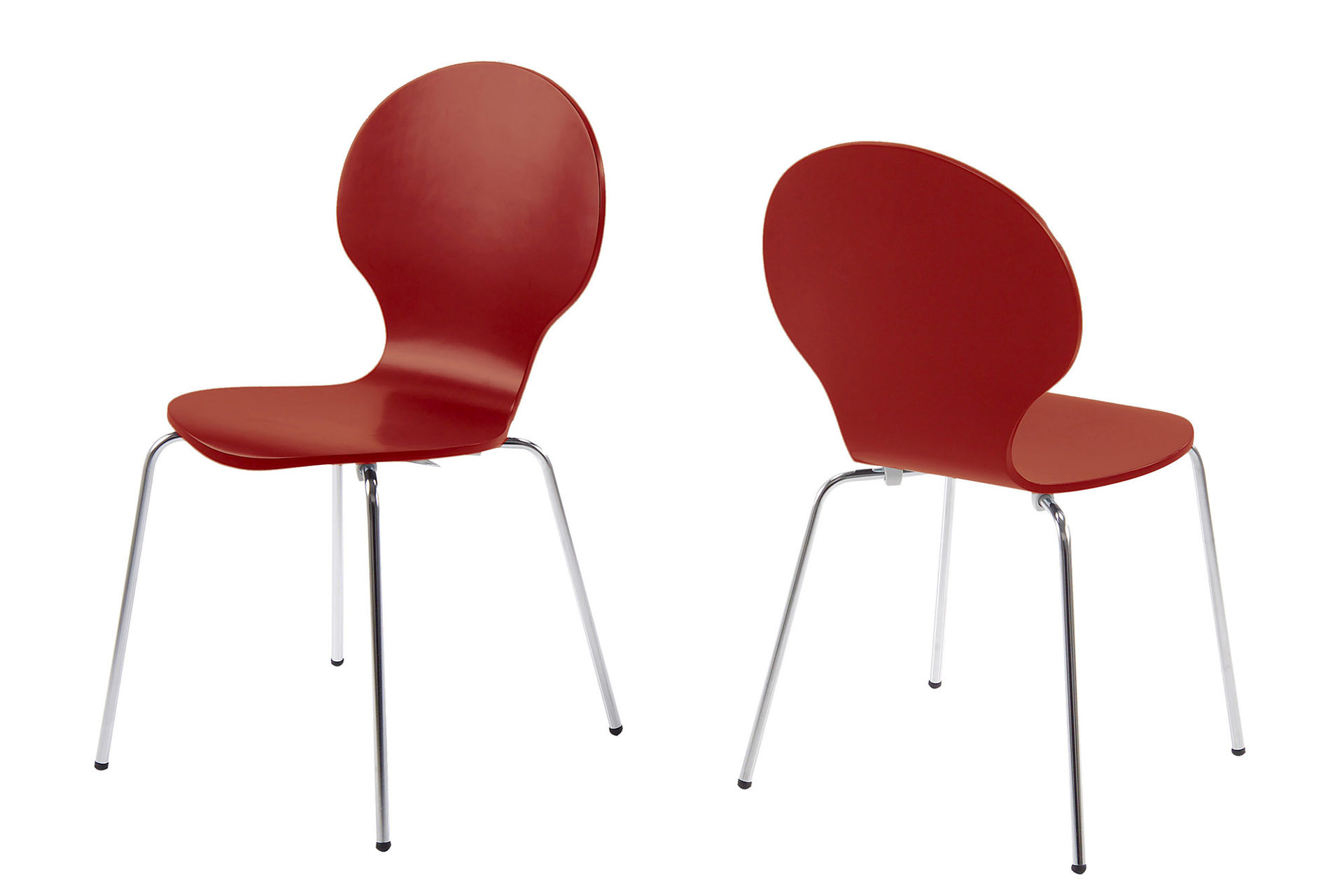Stapelstuhl auch für Sitzgruppen geeignet, dunkelrot lackierte, Bad ...