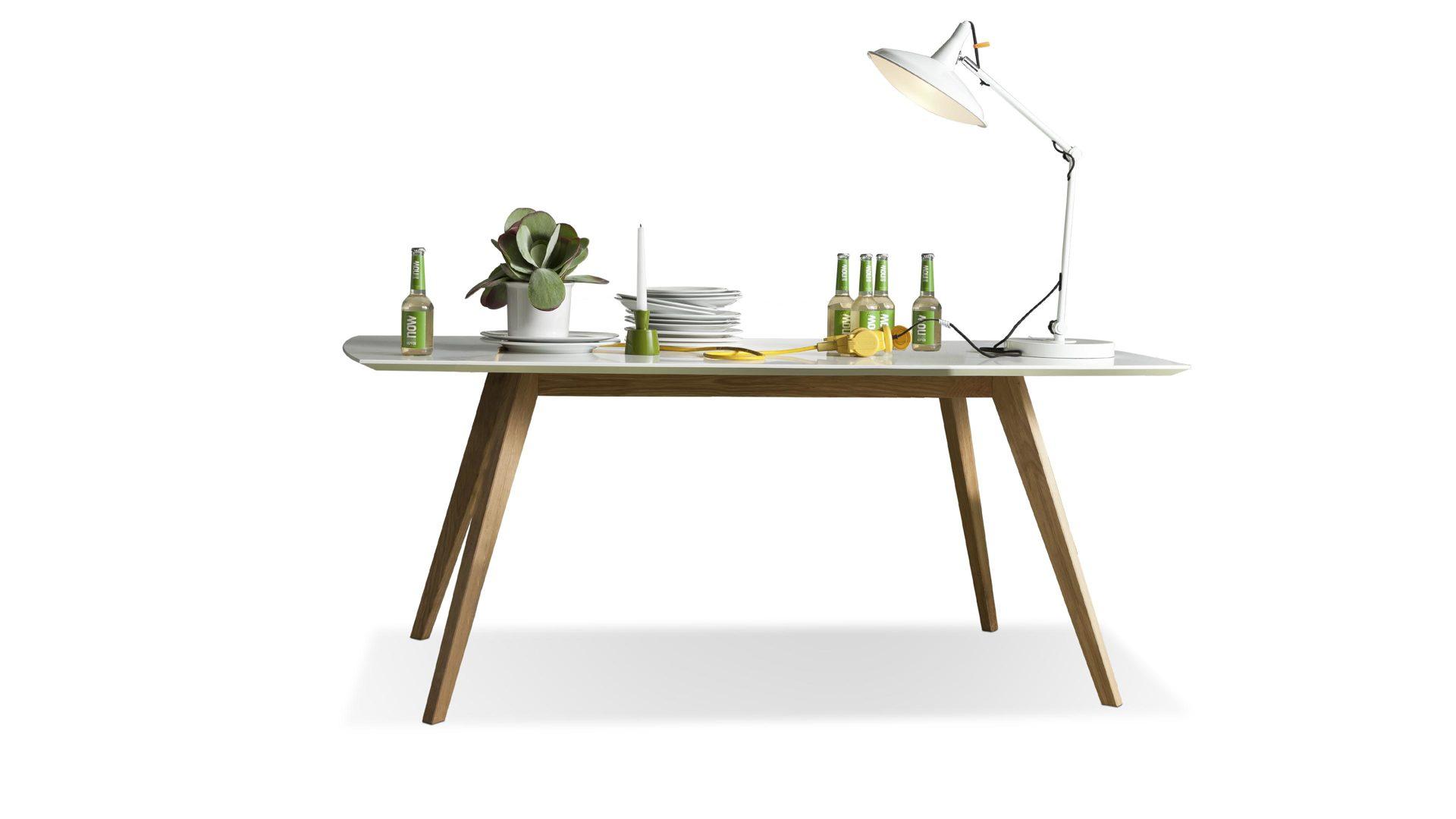 Tischplatte weiß matt  Esstisch bzw. Holztisch, mattweiße MDF-Tischplatte, Füße und Gestell ...