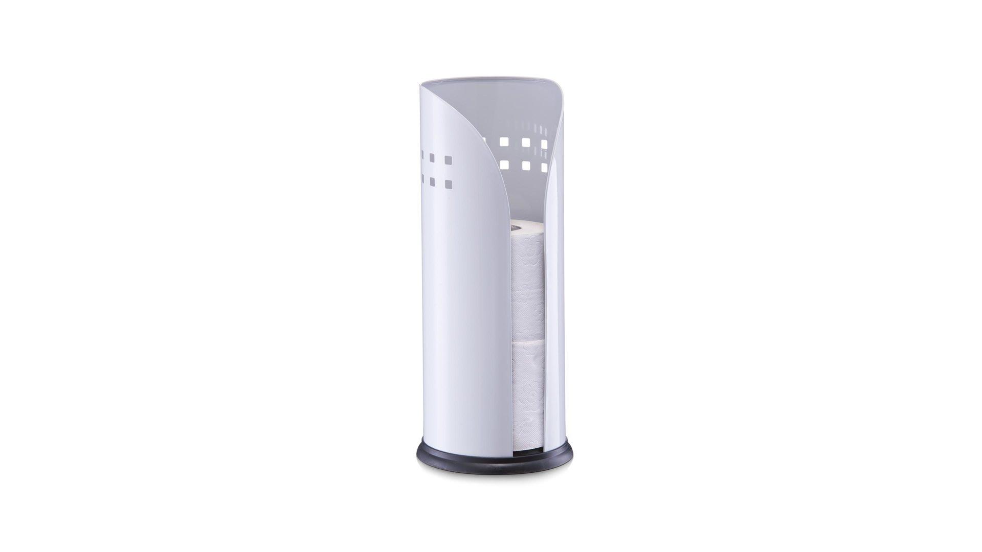 Toilettenrollenhalter, weiße Pulverbeschichtung - Höhe ca. 35 cm ...