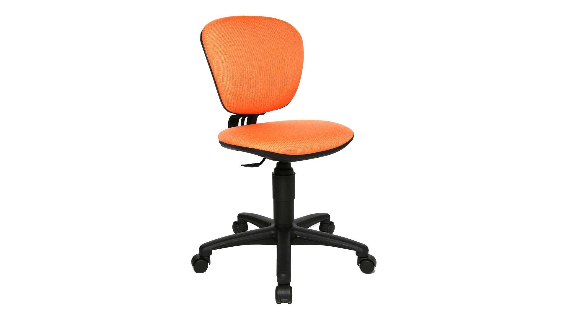 TOPSTAR Drehstuhl Schreibtischstuhl HIGH KID, Bezug Stoff G04 orange ...
