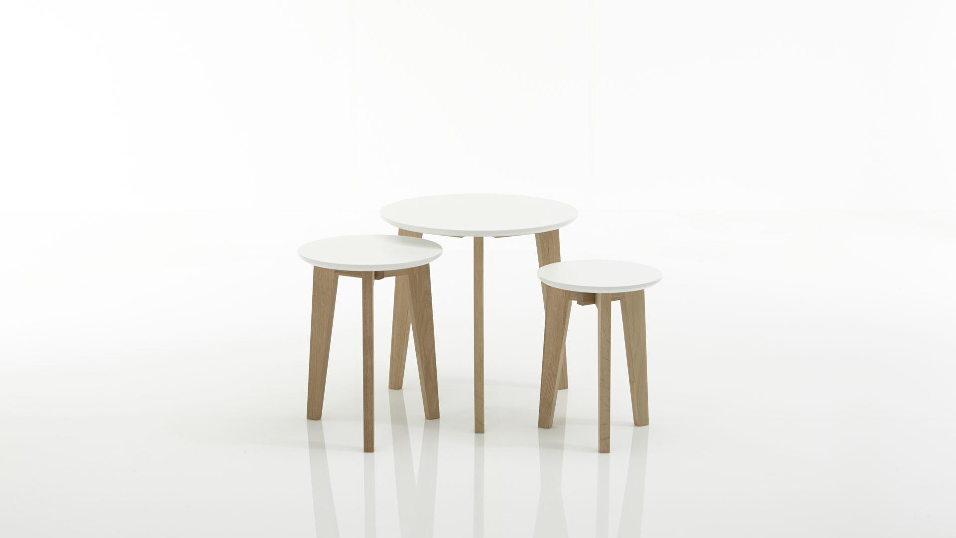 Beistelltisch Set, Ein 3 Teiliger Satztisch , Weiß Lackierte Holzplatten U0026,  Bad Homburg Bei Frankfurt