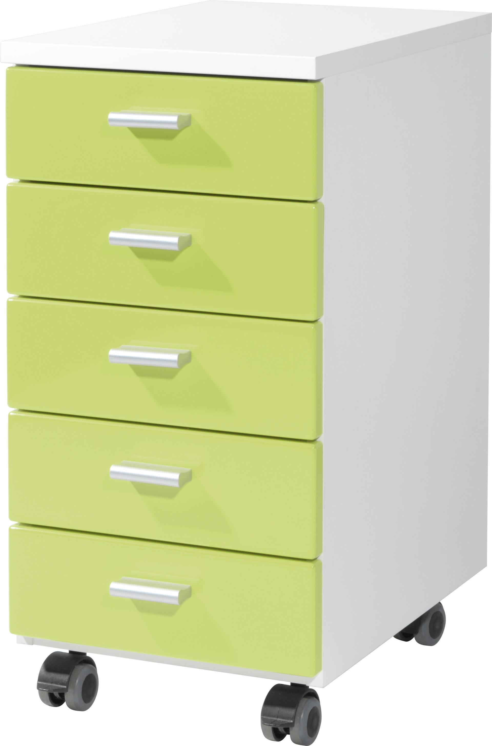 Büromöbel schrank holz  Rollcontainer 4099 als mobiles Büromöbel, apfelgrüne ...
