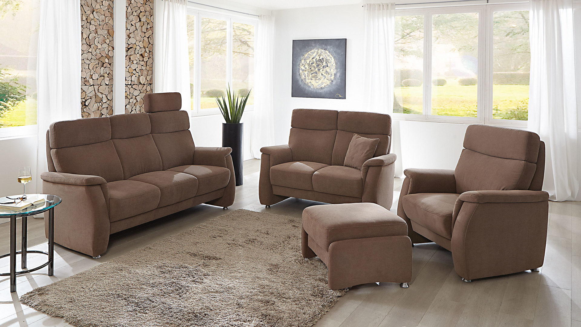 orthoSedis 3-Sitzer und 2-Sitzer, muskatfarbener Clever Clean fresh ...