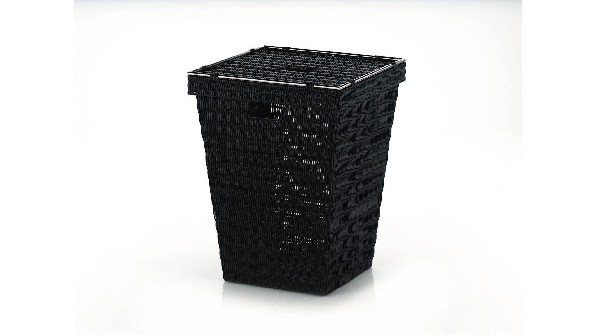 kela Wäschekorb Noblesse, schwarzer Kunststoff – ca. 40 x 53 x 40 cm ...