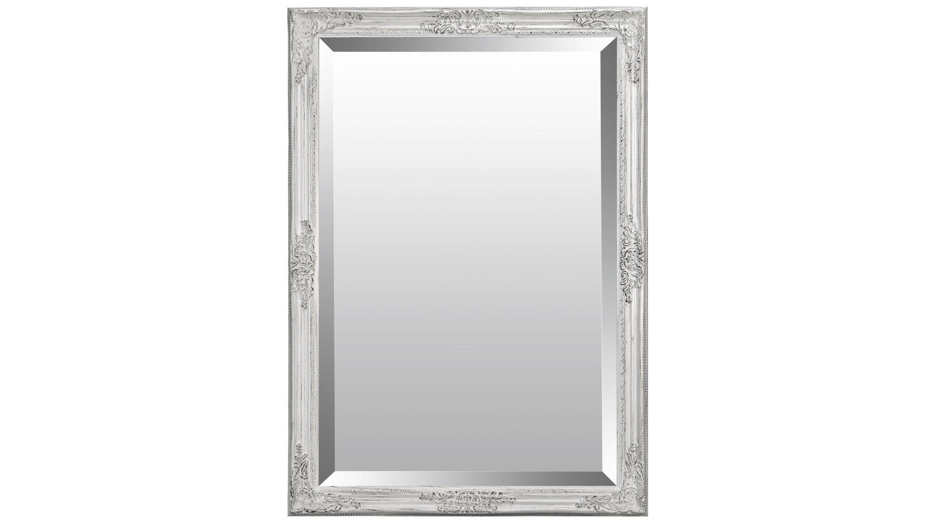 Wandspiegel als vielseitiges Kleinmöbel, altweißer Holzrahmen - ca ...