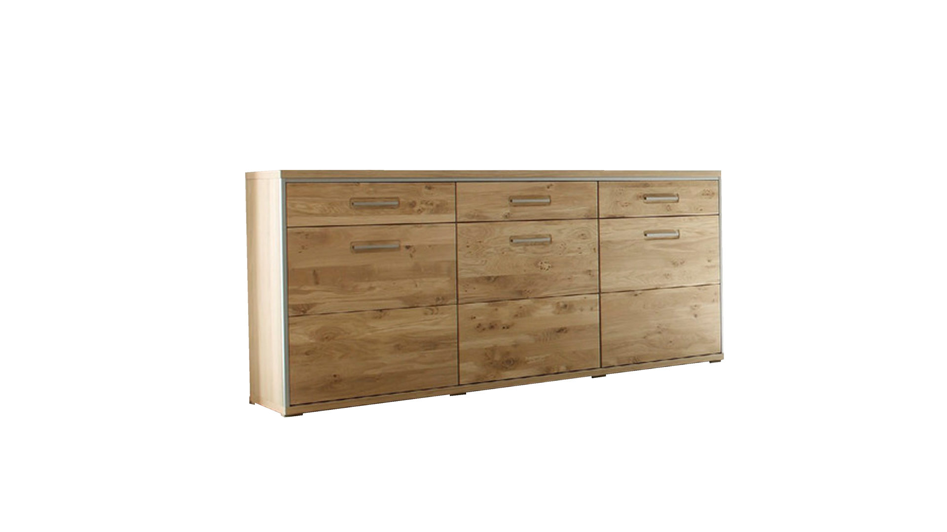 Sideboard als stilvolle Kommode, geölte Asteiche Bianco Fronten ...