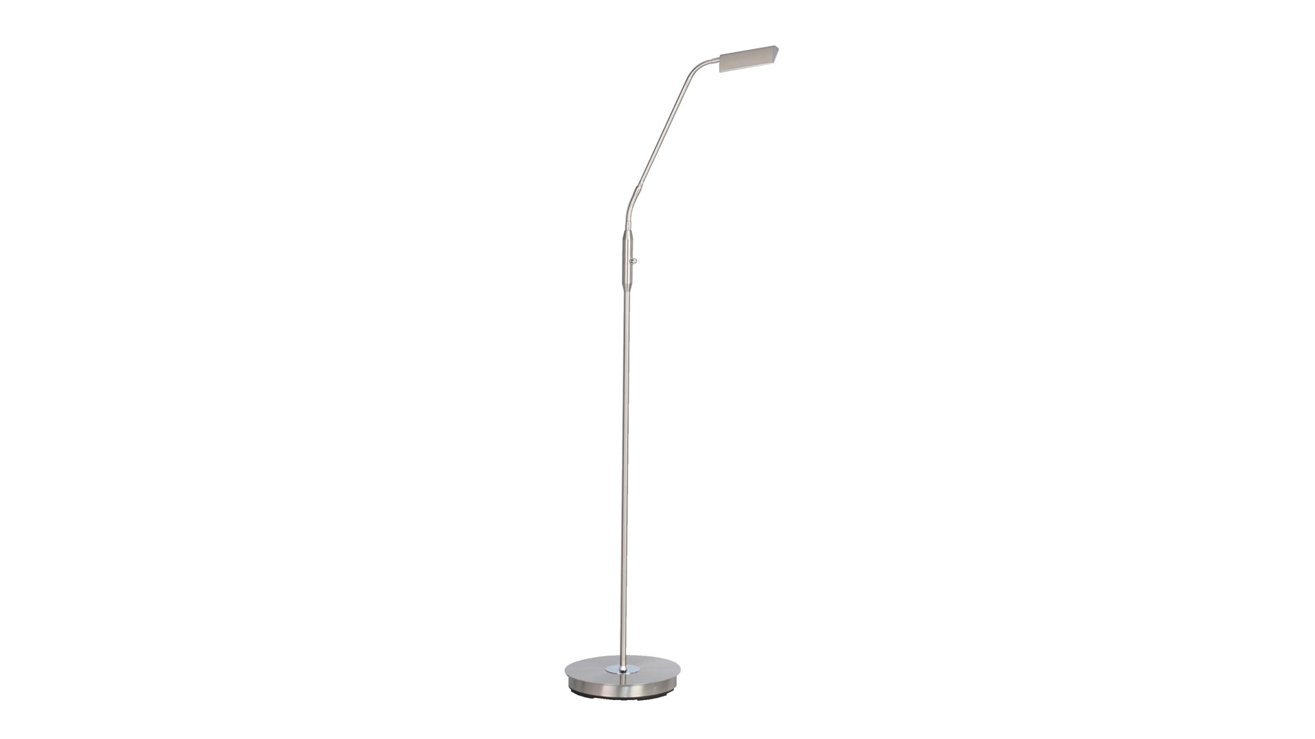 LED Standleuchte Cory, Nickel matt & Chrom – Höhe ca. 150 cm, Bad ...